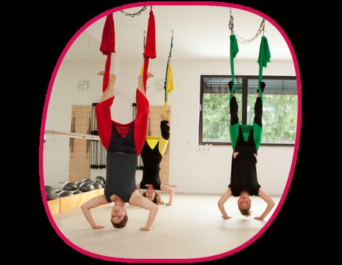 Aerial Yoga Training Physiotherapie Berlin Zehlendorf Schlachtensee